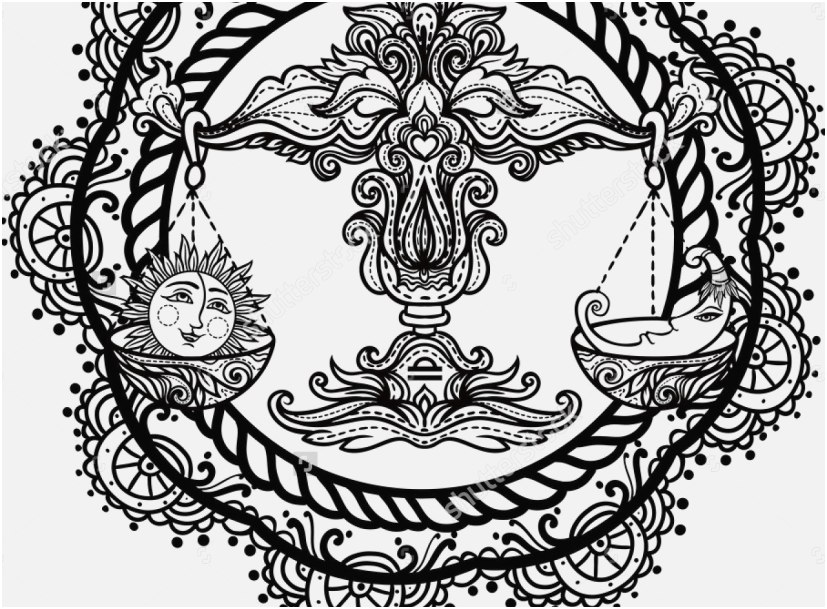 827x609 The Best Design Astrology Coloring Pages Outstanding