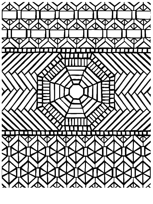 graphic relating to Printable Zentangle Patterns identified as Zentangle Designs Coloring Web pages at  No cost