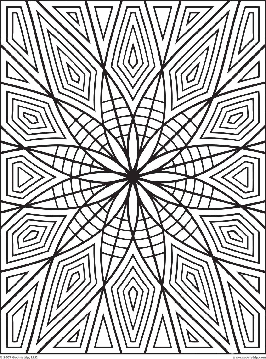 1111x1500 Zentangle Patterns Coloring Pages