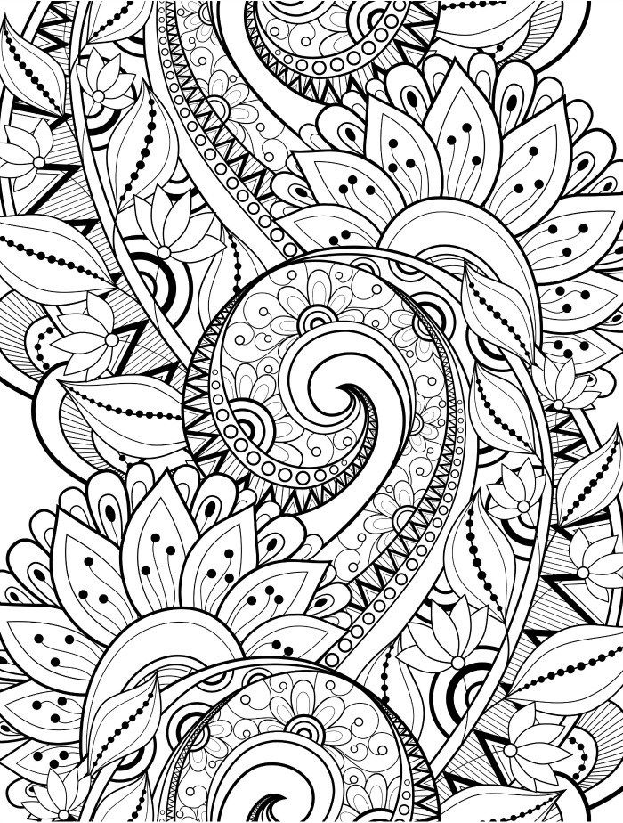 700x924 Busy Coloring Pages To Help Adults Relax Upload Coloring