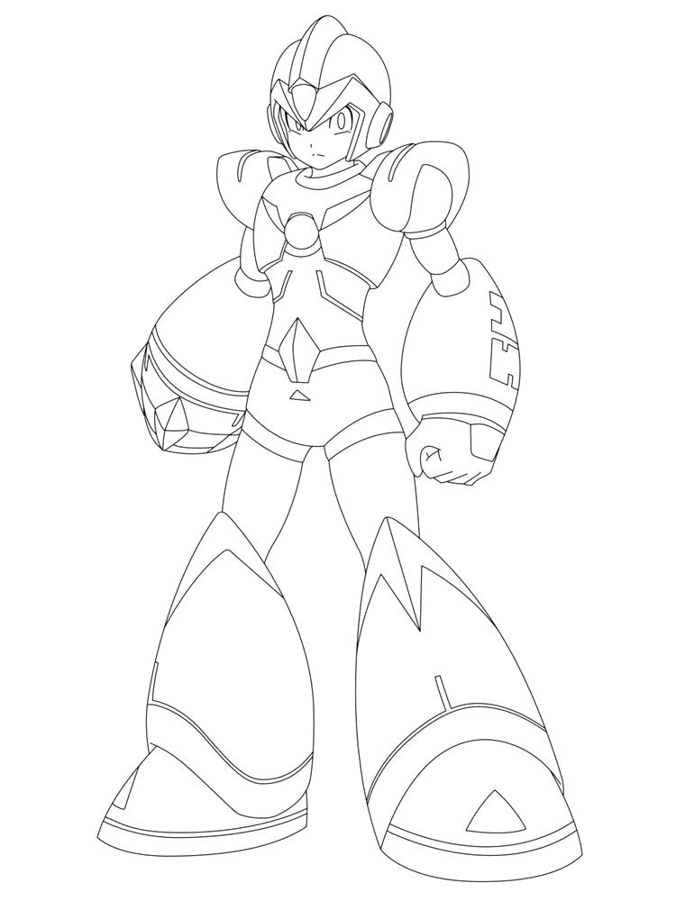 750x1000 Mega Man Coloring Pages Coloring Sketch Zero Coloring Page Mega
