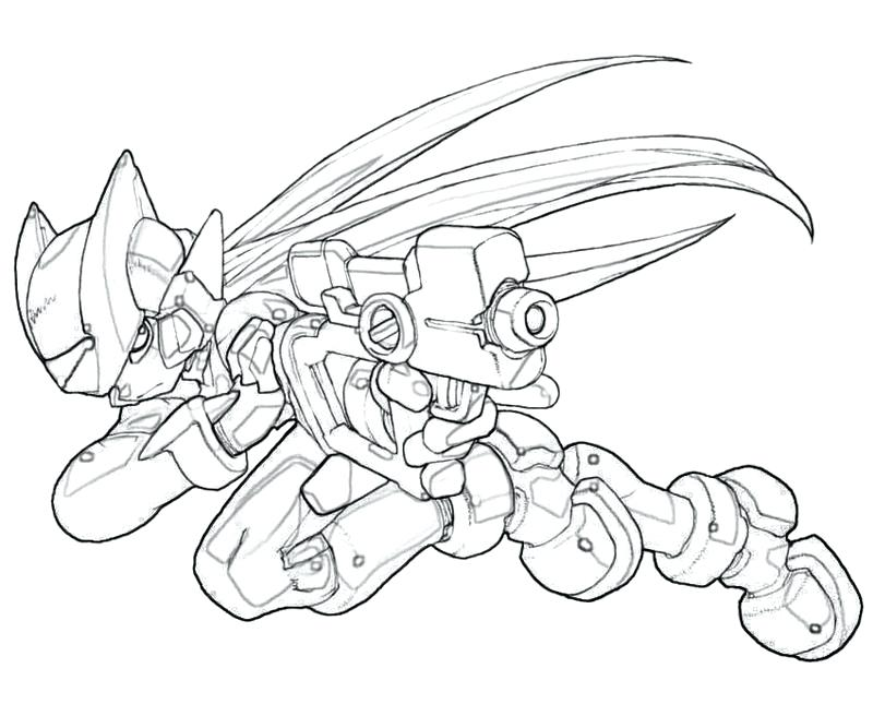 800x667 Mega Man Coloring Pages Zero Colouring Pages Megaman Zero Coloring
