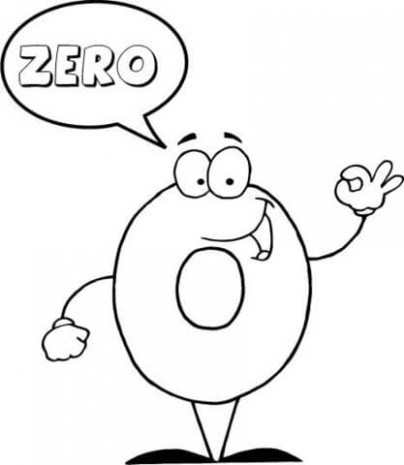 404x465 Number Says Zero Coloring Page Free Printable Coloring