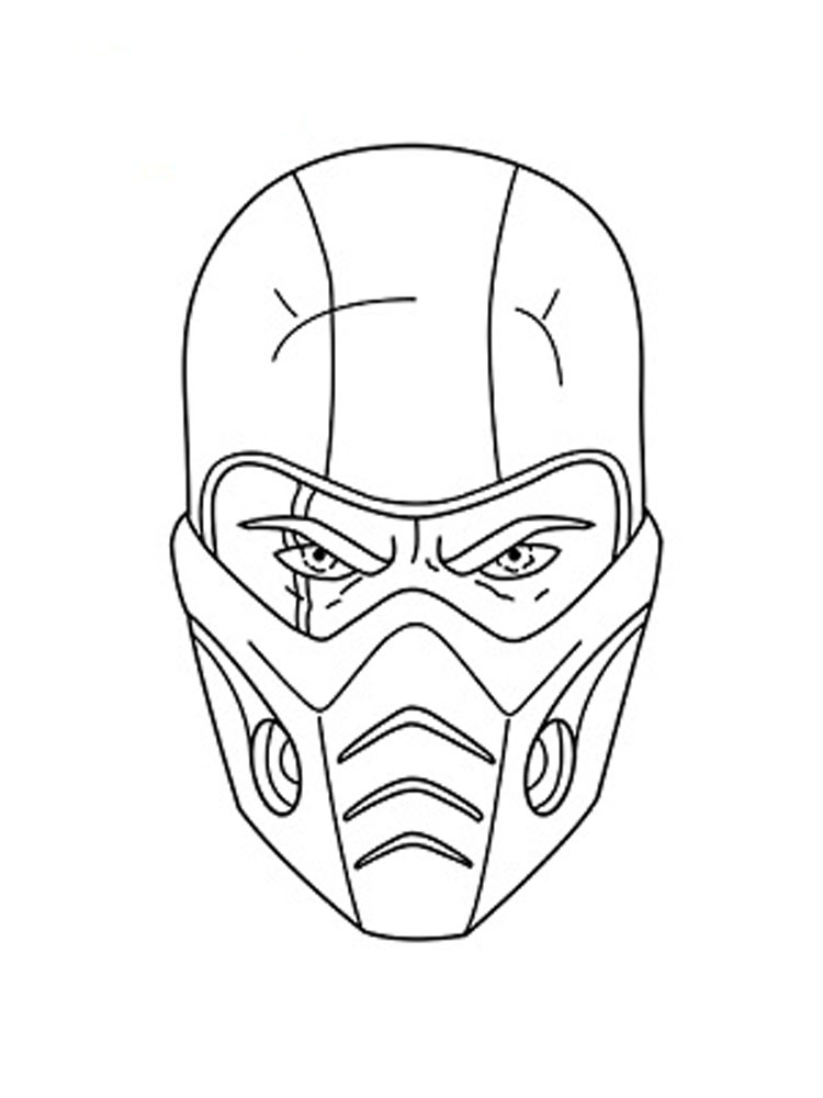 750x1000 Sub Zero Coloring Pages Free Printable Sub Zero Coloring Pages
