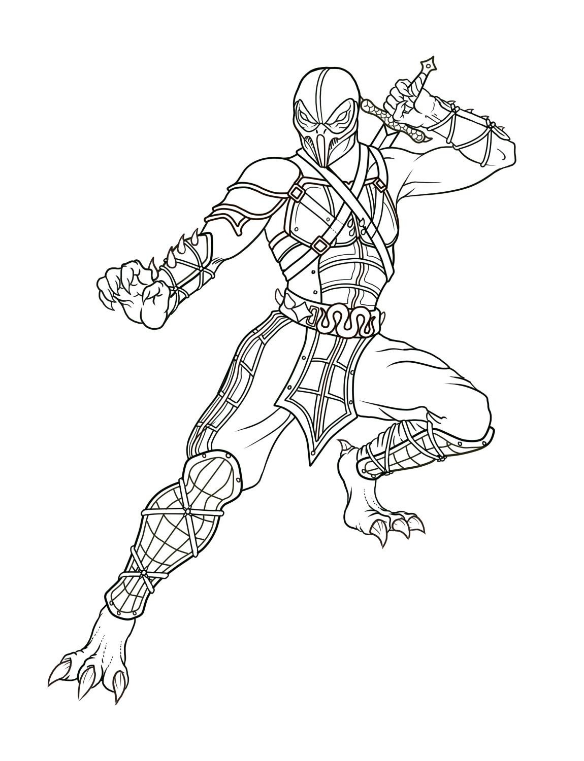 1150x1500 Sub Zero Coloring Pages Download And Print For Free