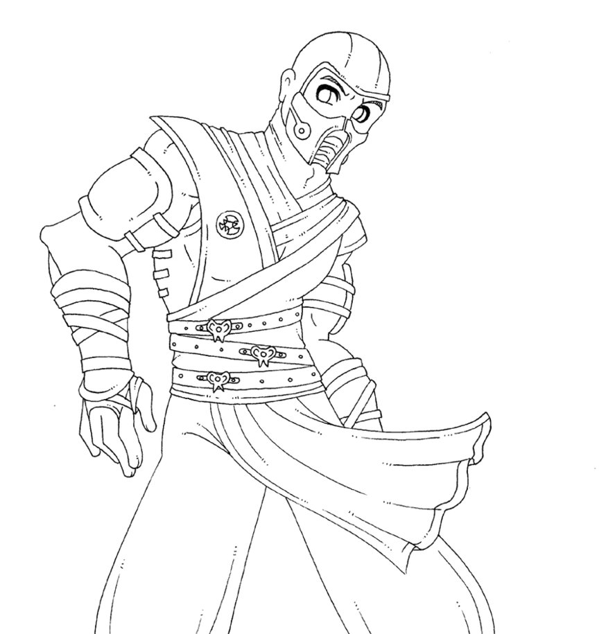 874x915 Sub Zero Coloring Pages