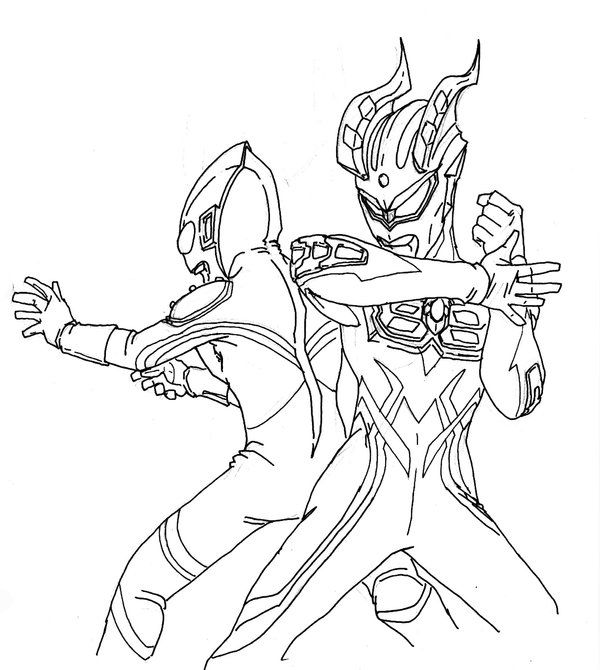 600x670 Ultraman Zero Coloring Pages Coloring Pages Coloring Pages