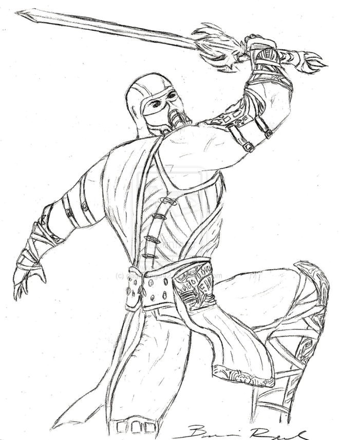 660x857 Awesome Sub Zero Coloring Pages Coloring Ws