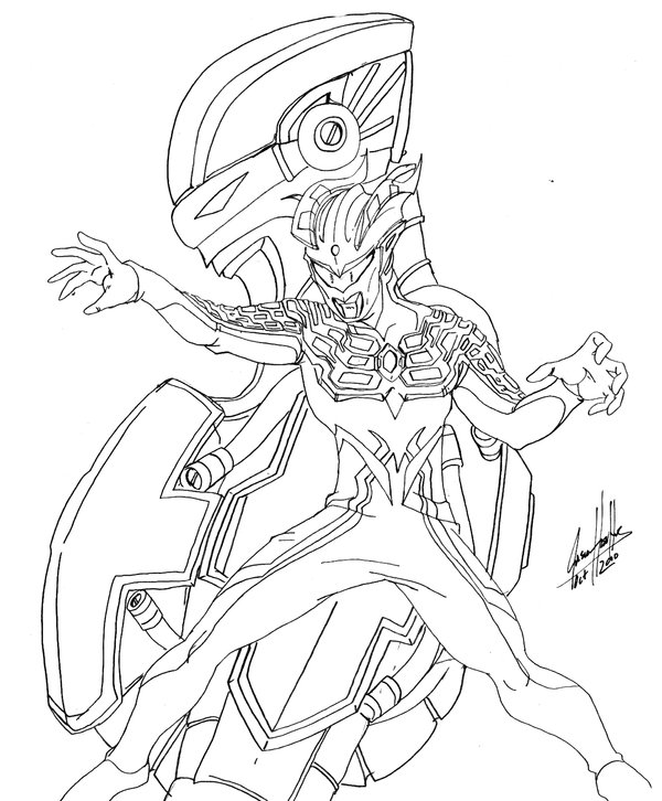 600x726 Ultraman Zero Coloring Pages Sketch Coloring Page, Ultraman
