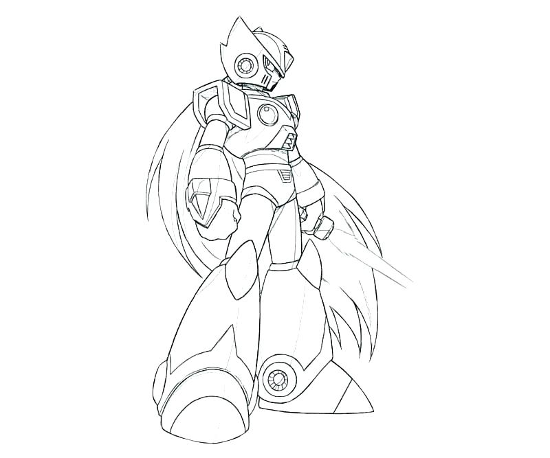 800x667 Zero Coloring Pages Kids Coloring X Coloring Pages Mega Man Zero