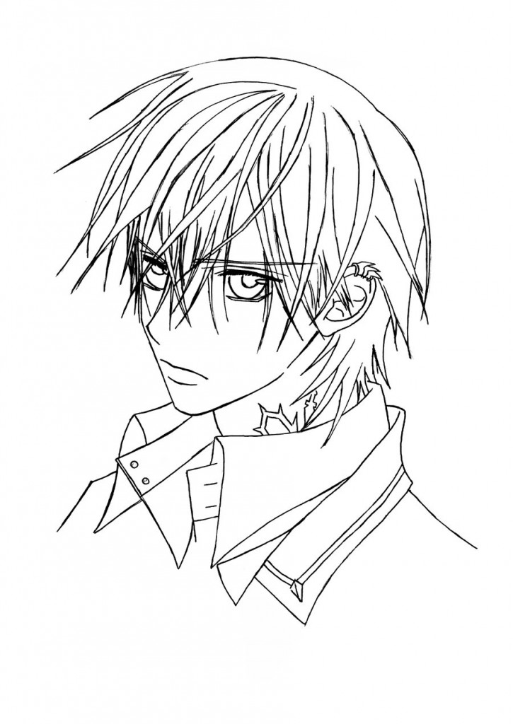 725x1024 Vampire Knight Coloring Pages