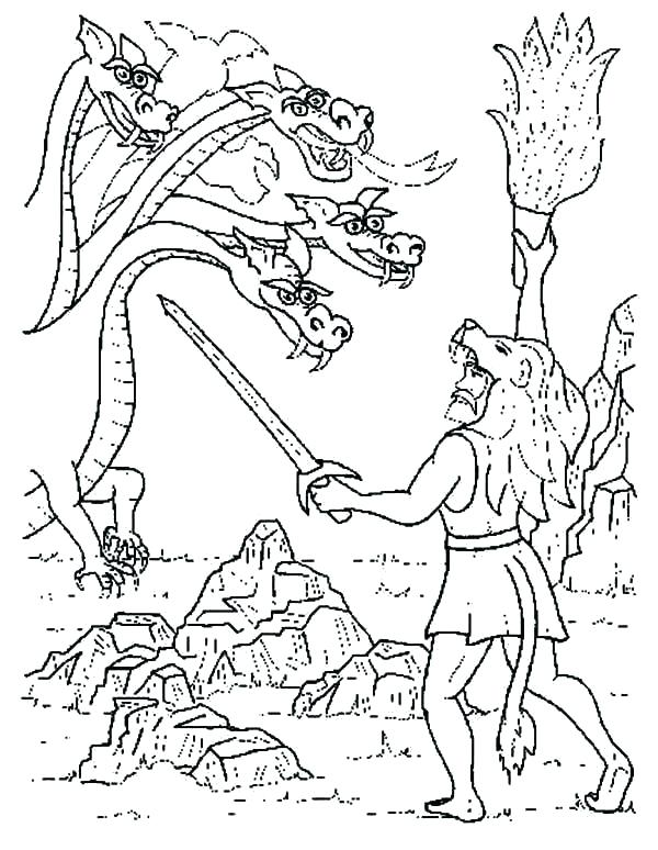 Zeus Coloring Page