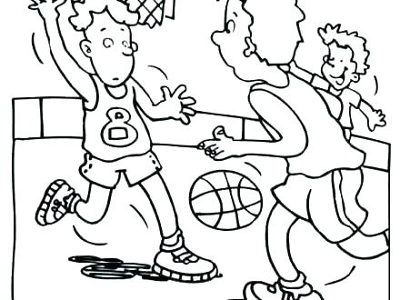 440x330 Free Basketball Coloring Pages Terrific Basketball Coloring Page