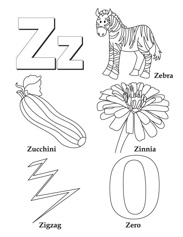 612x792 Letter Z Coloring Pages