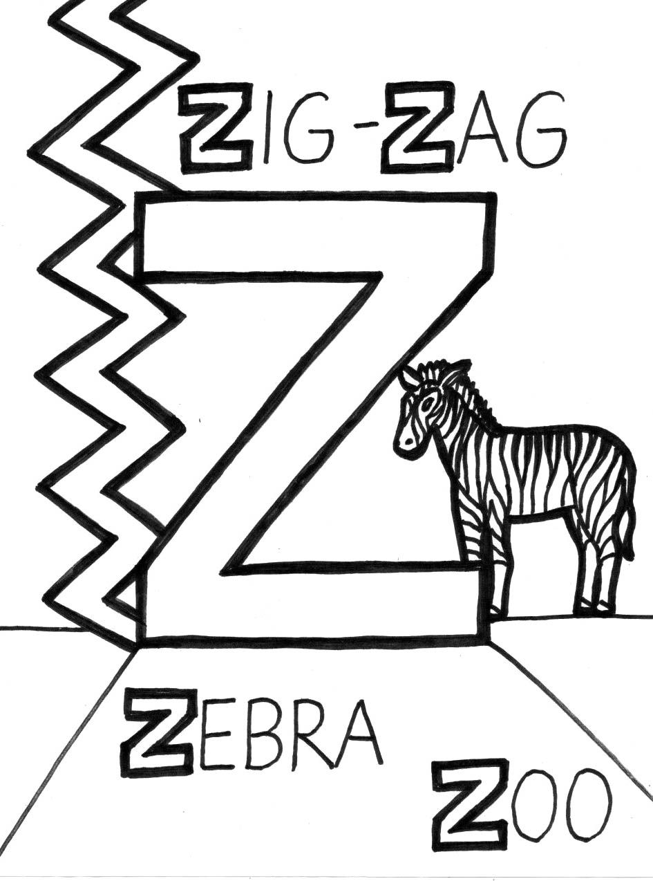 945x1274 Z Is For Zig Zag Coloring Page Ideas For Preschool