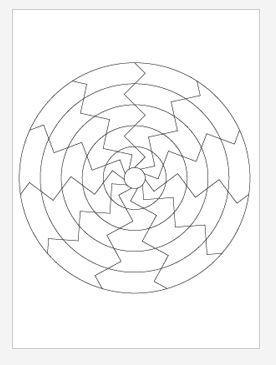 276x365 Zigzag Mandala Coloring Page