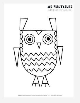 273x351 Zigzag The Owl Coloring Page