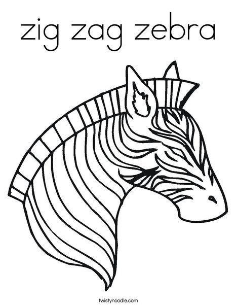 468x605 Zig Zag Zebra Coloring Page