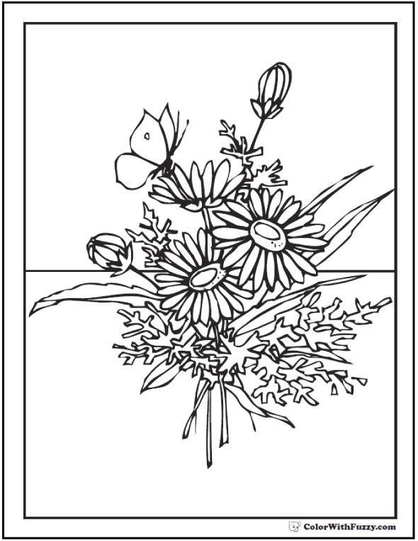 590x762 Flower Coloring Pages Customize And Print Pdf