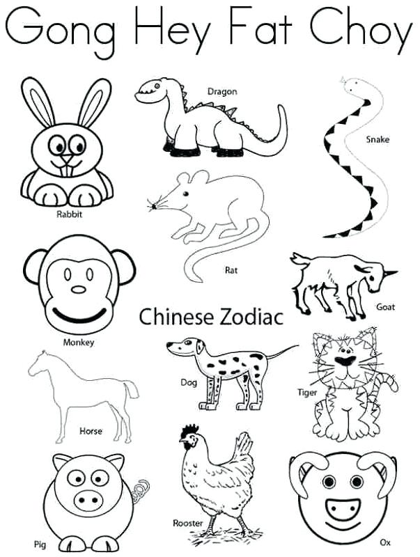 603x800 Chinese Zodiac Coloring Pages Color Pages Inc Pics Zodiac Coloring