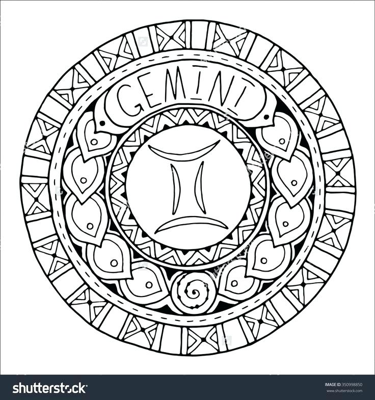 736x785 Astrology Coloring Pages Zodiac Sign Chinese Zodiac Signs Coloring