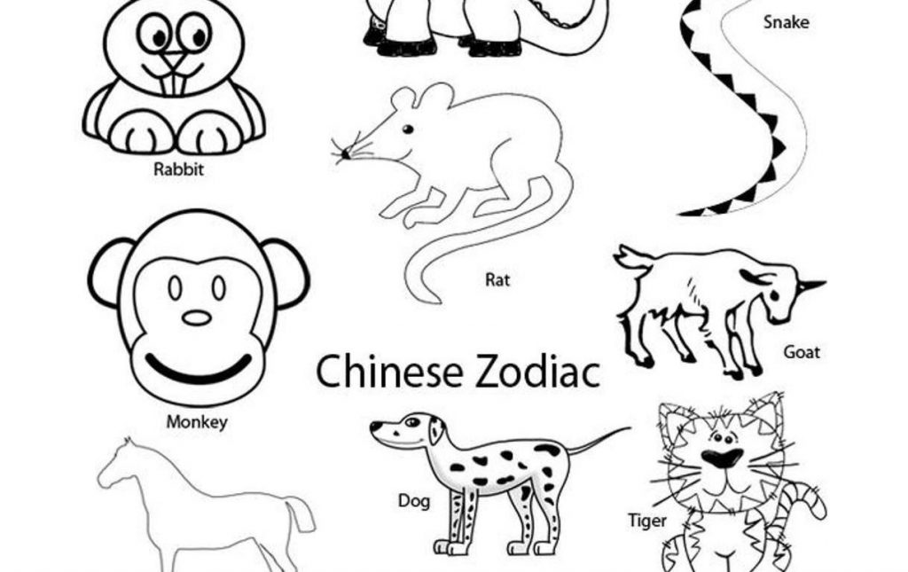 1024x645 Chinese New Year Zodiac Coloring Pages Copy Zodiac Signs Coloring