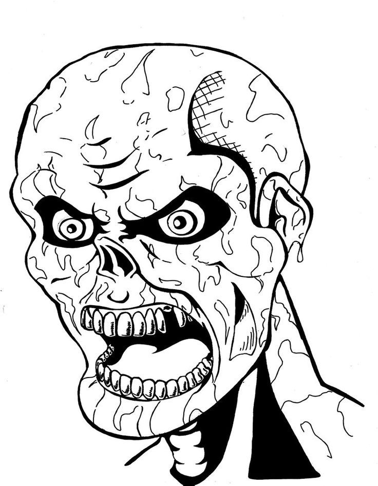 736x946 Scary Zombie Coloring Pages Scary Zombie Coloring Pages Scary