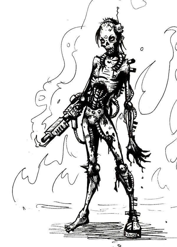 Zombie Coloring Pages For Adults