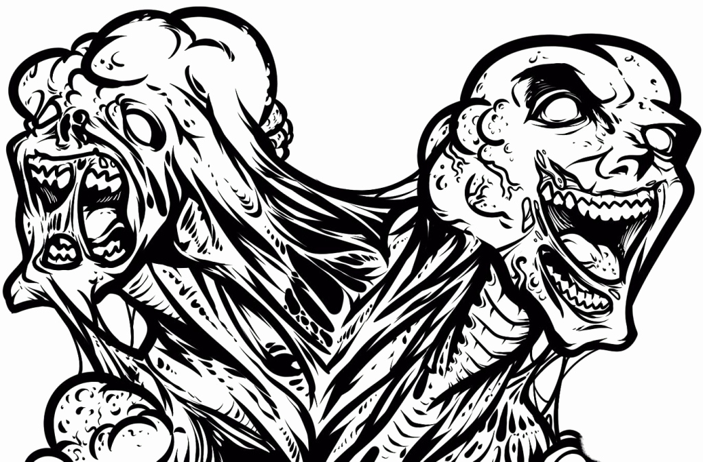 1024x674 Zombie Coloring Pages Adults Stock Zombie Coloring Pages