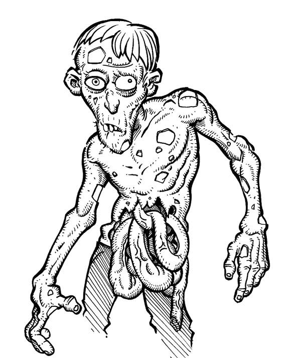 600x712 Zombie Coloring Pages For Adults Printable Zombie Coloring Pages