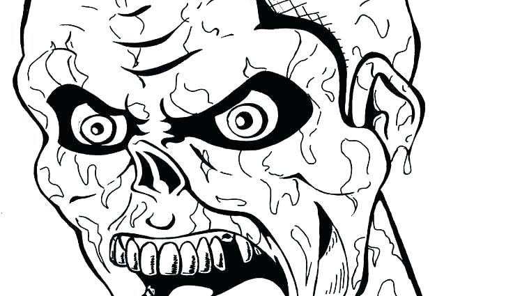 736x425 Halloween Zombie Coloring Pages Zombie Coloring Pages Skull Free