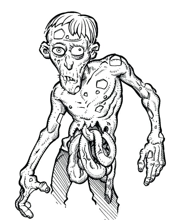 600x712 Printable Zombie Coloring Pages Printable Zombie Coloring Pages