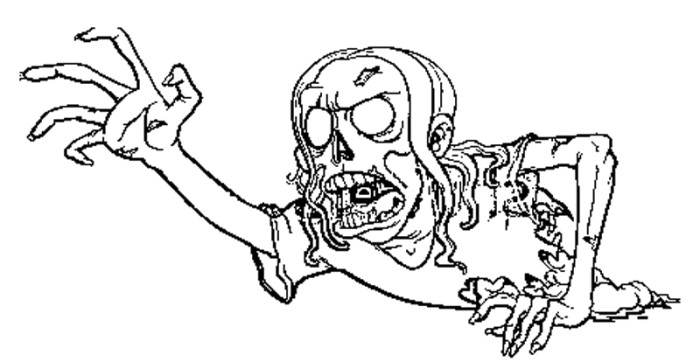 700x362 Scary Zombie Coloring Pages