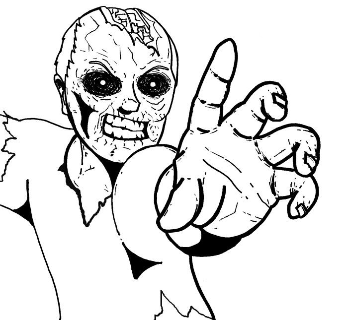 700x645 Zombie Coloring Pages For Kids Free Zombie Coloring Pages Print