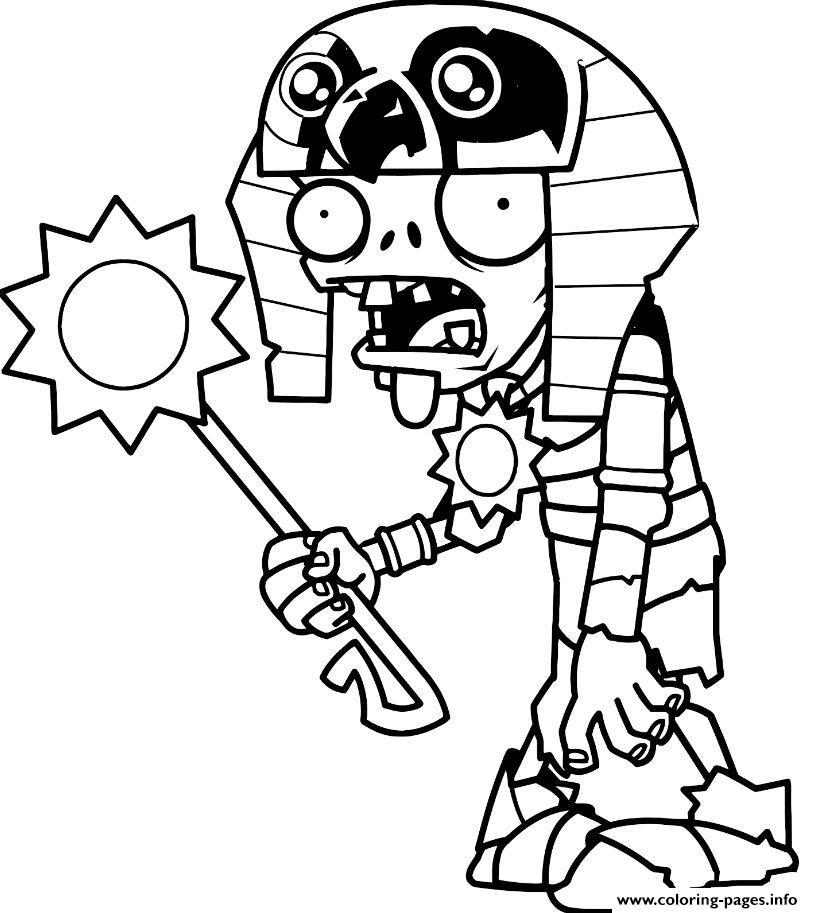 813x913 Plants Vs Zombies Free Coloring Pages Egypt Plants Vs Zombies