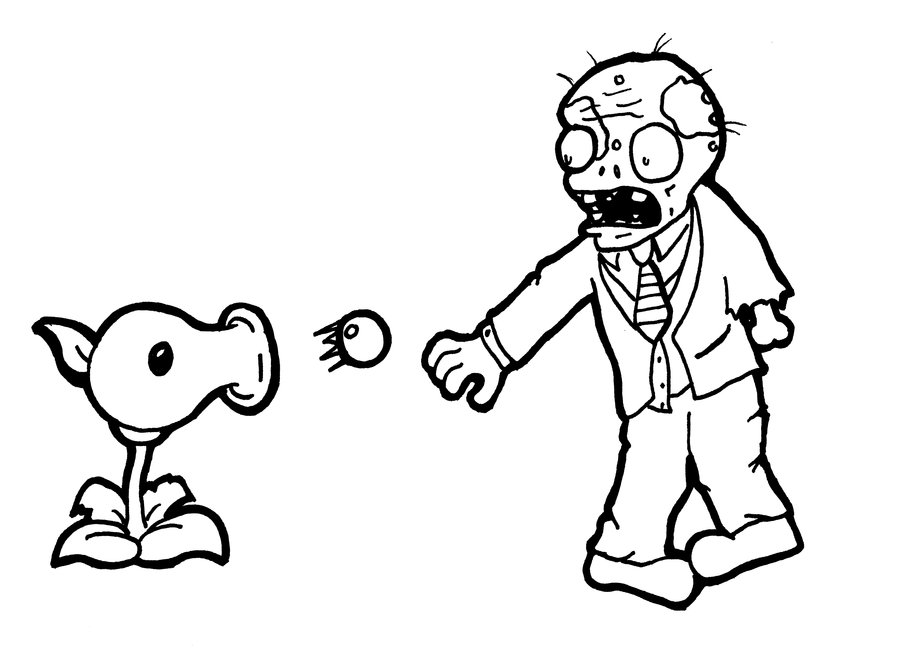 900x650 Plants Vs Zombies Coloring Pages Games Allmadecine Weddings