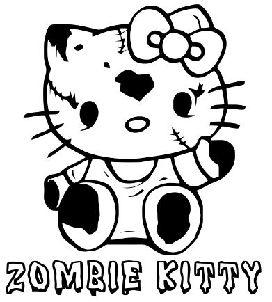 Zombie Coloring Pages For Kids at GetDrawings | Free download