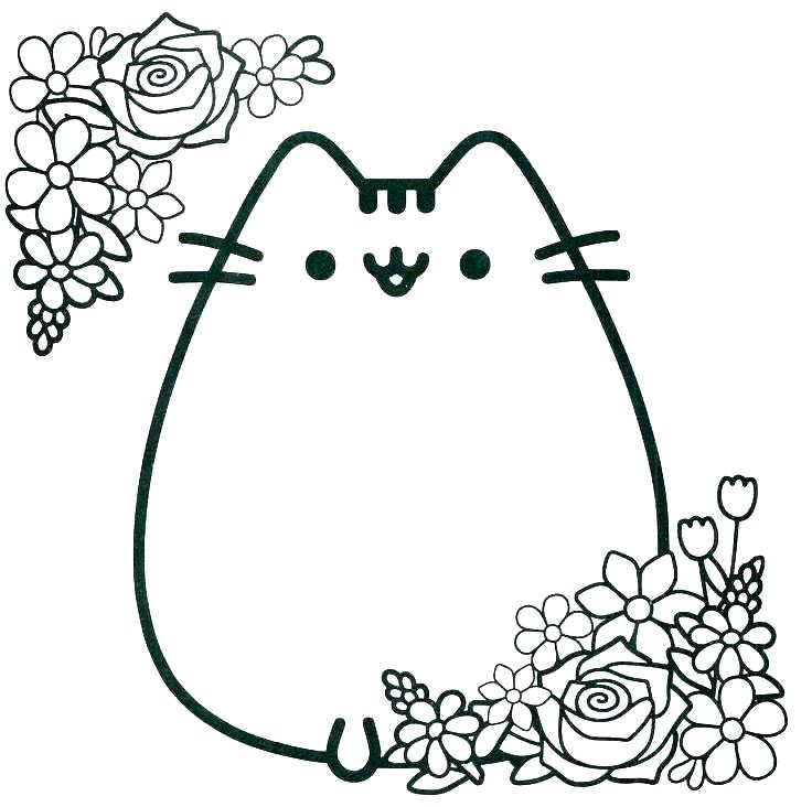 736x732 Coloring Pages Of Cats Icontent