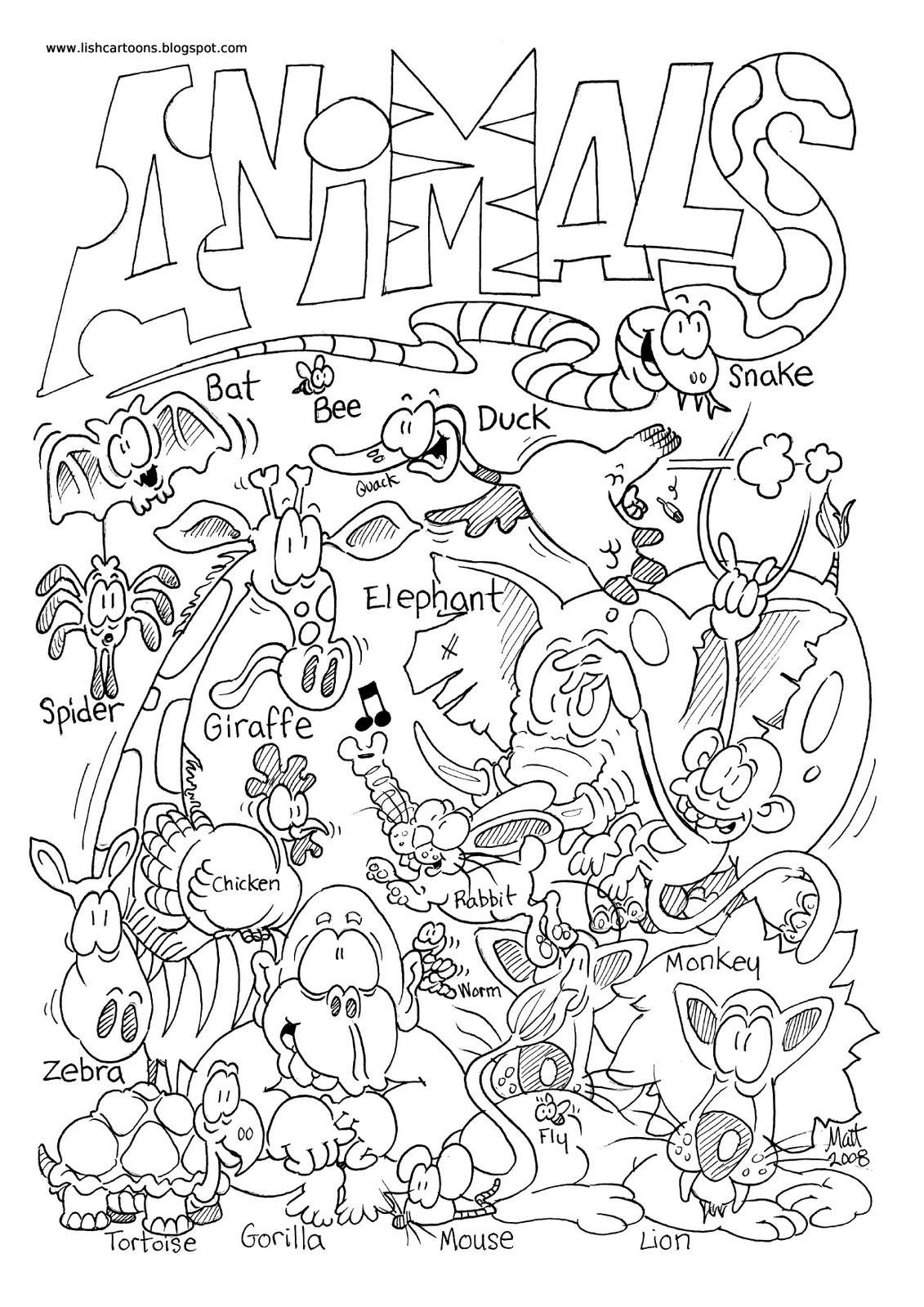Zoo Animal Coloring Pages For Preschool at GetDrawings.com ...