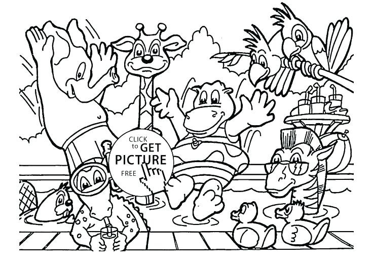 736x523 Baby Zoo Animals Coloring Pages Icontent