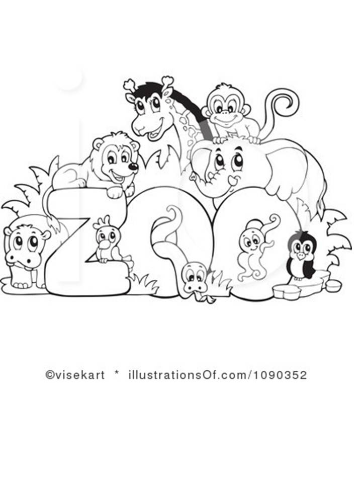 Free coloring sheets zoo animals
