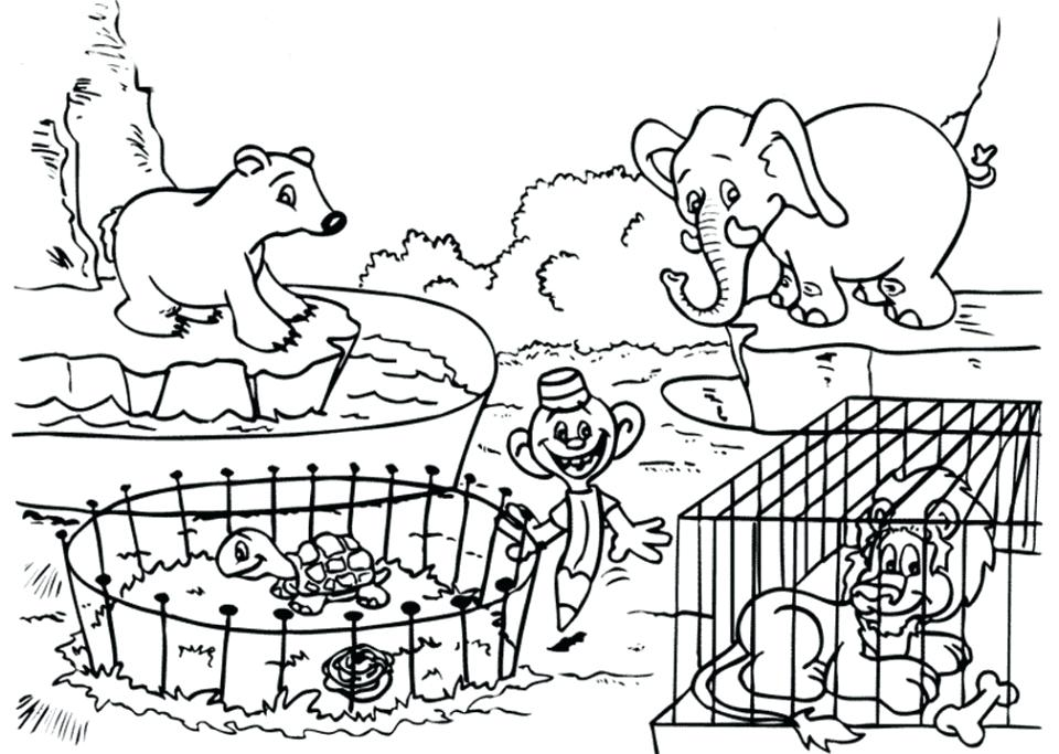960x683 Zoo Coloring Pages Printable Zoo Coloring Pages For Kids Zoo