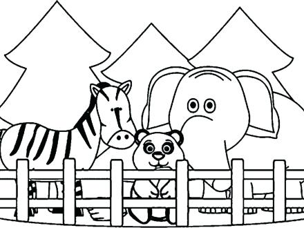440x330 Zoo Animal Coloring Pages Zoo Coloring Pages Zoo Animals Coloring