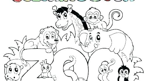 500x280 Zoo Coloring Sheets Animal Free Zoo Animal Coloring Pages Zoo