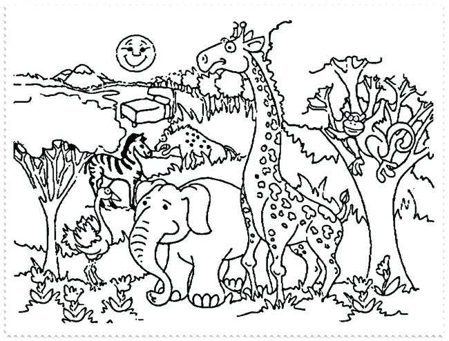 650x494 Zoo Coloring Pages Free Zoo Animal Coloring Pages Zoo Coloring