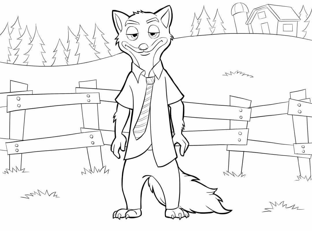 1080x800 March Coloring Pages Printable Best Of Chief Bogo From Zootopia
