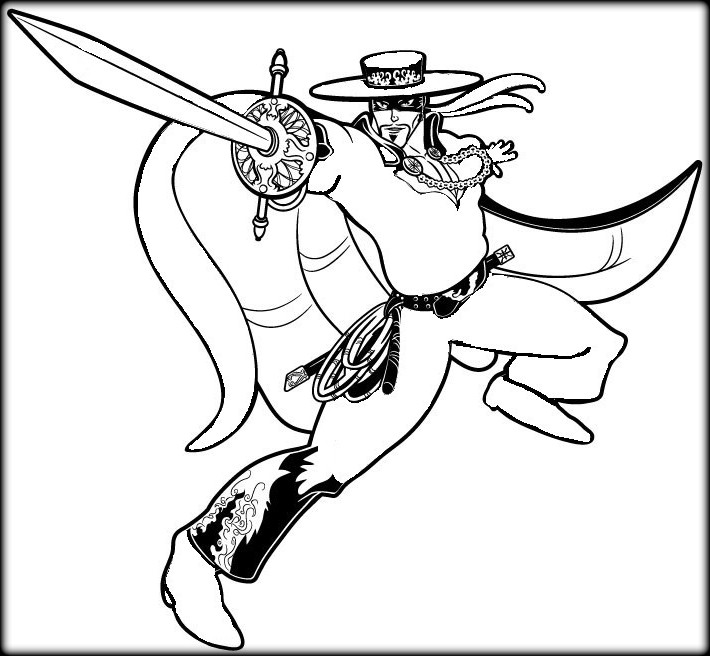 the best free zorro coloring page images from 23
