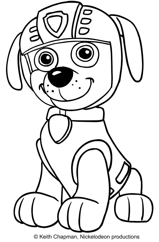 Zuma Paw Patrol Coloring Page At Getdrawings Com Free For