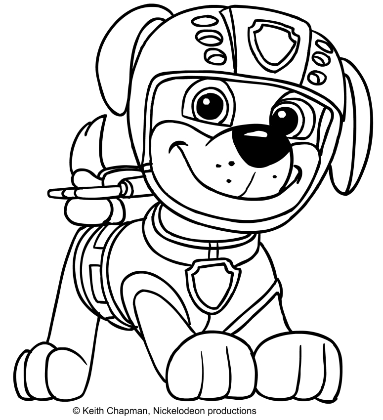 zuma paw patrol coloring page at getdrawings free