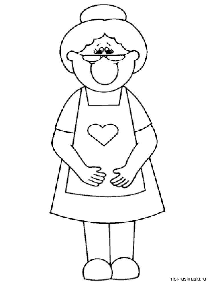 750x1000 Granny Coloring Pages